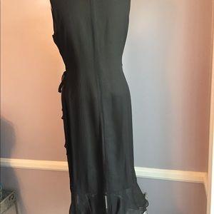 Alfani Dresses - 100% silk Alfani wrap dress with ruffle trim